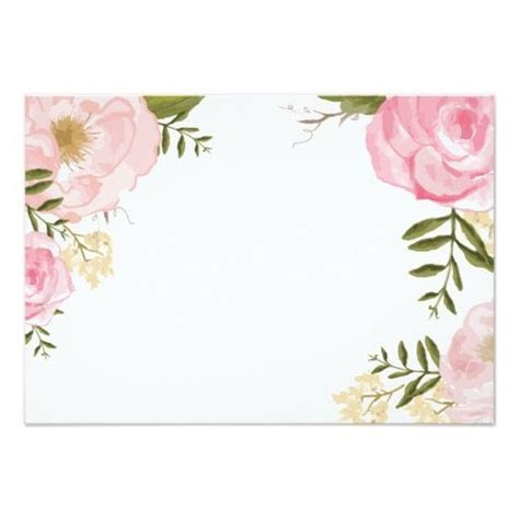 Modern Vintage Pink Floral Wedding Blank Card   Zazzle.com