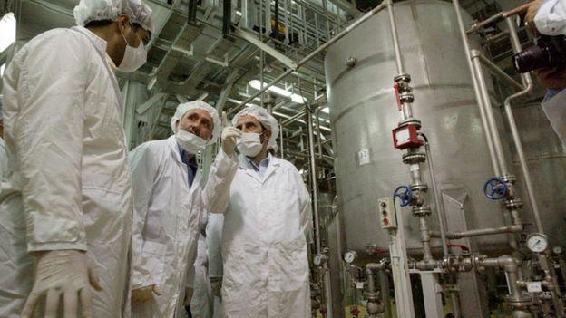 Instalaciones nucleares en Irán.