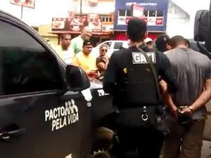 Polícia frustra tentativa de assalto a banco em Carpina, na Mata Norte de Pernambuco (Foto: Reprodução / WhatsApp)