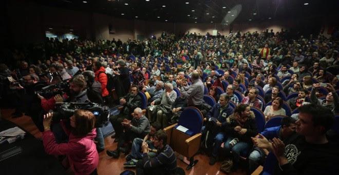 Público en el acto del Gamonal de IU-Unidad Popular