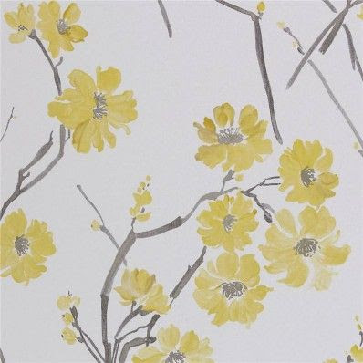 Decor Supplies | Yellow / Grey / White - 30218 - Floris - Harlequin Boutique Wallpaper