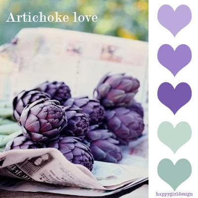 Artichoke Love color board