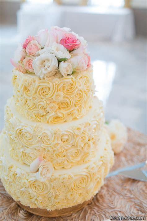 Rosette Buttercream Piped Wedding Cake   CakeCentral.com