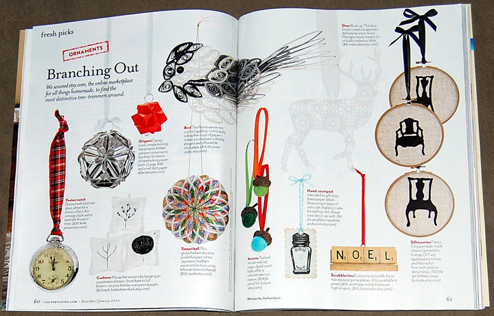 my Deer ornament in the Country Living magazine