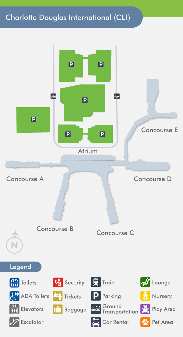 Gadgets 2018: Charlotte Terminal Map