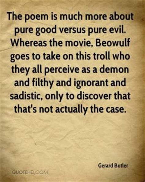 Good Vs Evil In Beowulf Quotes