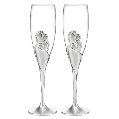 Hortense B. Hewitt  Sparkling Love Champagne Flutes (Set of 2)