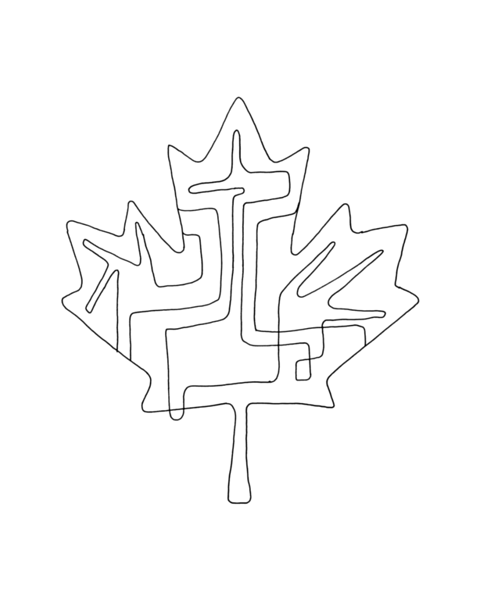 10000 Pages Canadian Maple Leaf Colouring Page 5822