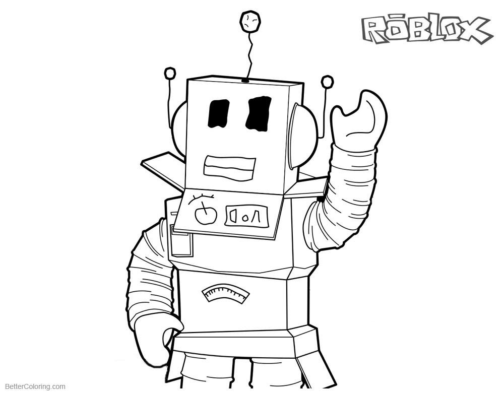 Roblox Noob Colouring Pages Free Robux 50k