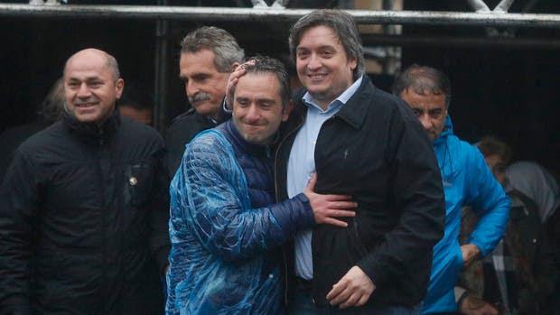 Marcha de la Resistencia, encabezada por Maximo Kirchner, Hebe de Bonafini y Agustin Rossi
