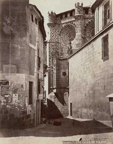 Calle de Sixto Ramón Parro hacia 1880. Foto de Casiano Alguacil. Image by © Alinari Archives/CORBIS