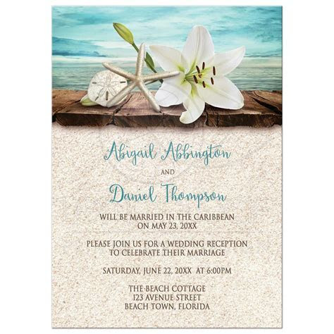 wedding invitations : Beach reception invitations   Invite