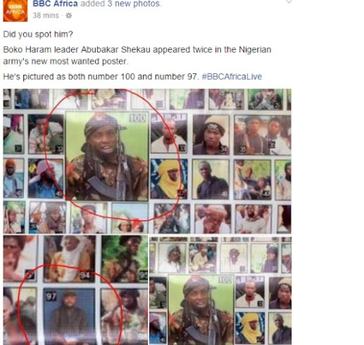BBC Africa Points Out Error On Nigerian Army's Boko Haram Most Wanted List