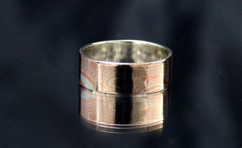 6mm wide ring Mokume Gane Ring Mokume ring Mens mokume