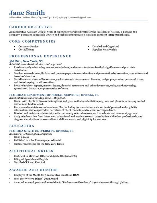 What should a resume look like?