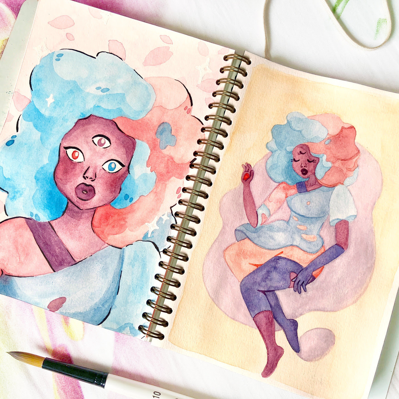 It's another Garnet from The Answer episode! Because she's sooo pretty in her cotton candy colours, and also a beautiful representation of the first encounter of new love, I can't get enough of her.