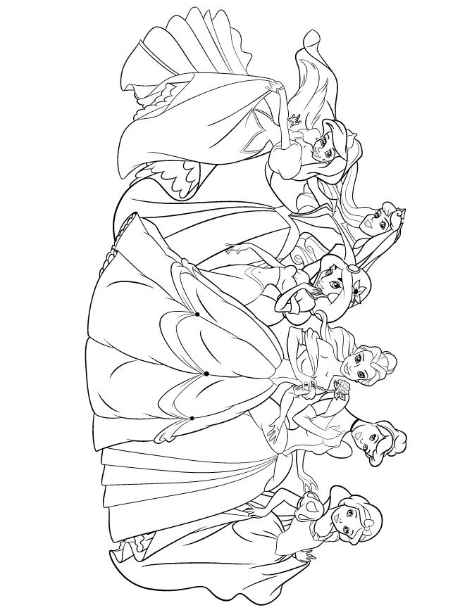 Cute Disney Princess Coloring Pages - Coloring And Drawing