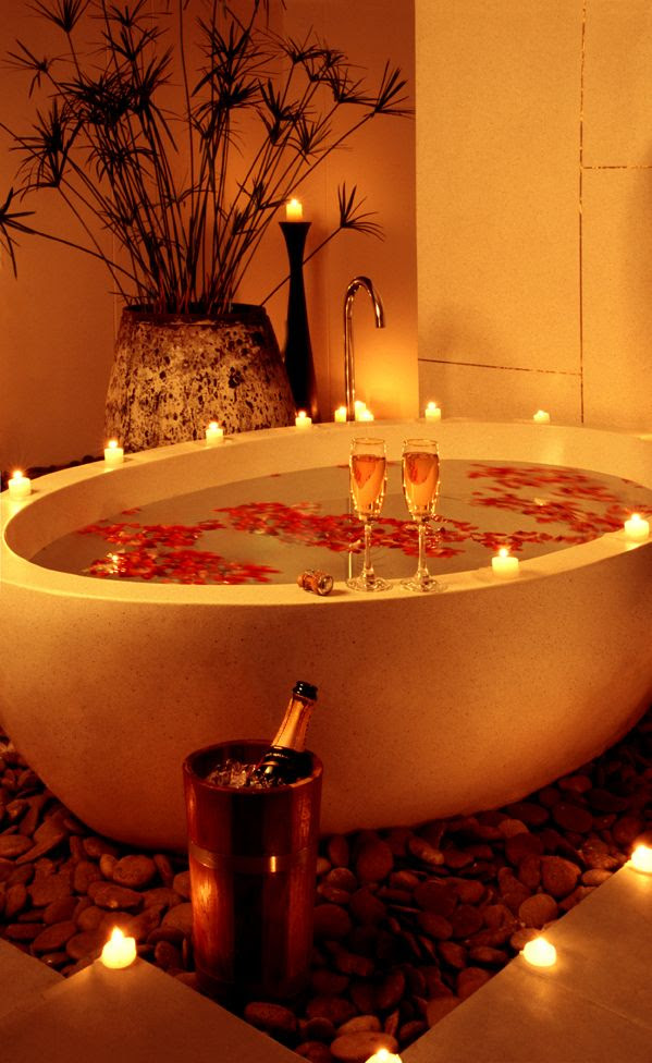 A romantic bath together to ease your nerves on your #wedding #night The Sarojin http://www.sarojin.com/en/