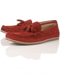 Topman Teak Jute Leather Loafer