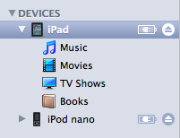 iTunes Devices section