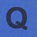 Foam brick letter Q