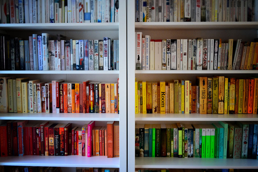 Rainbow Rooms Tips For Colour Coding Your Bookshelves