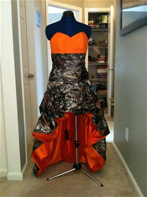 Camo Wedding Dresses in Mossy Oak and White Orange Army