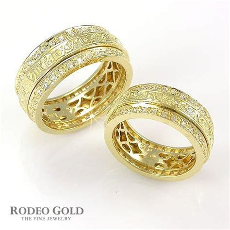 complex gold couple ring set wedding rings rings