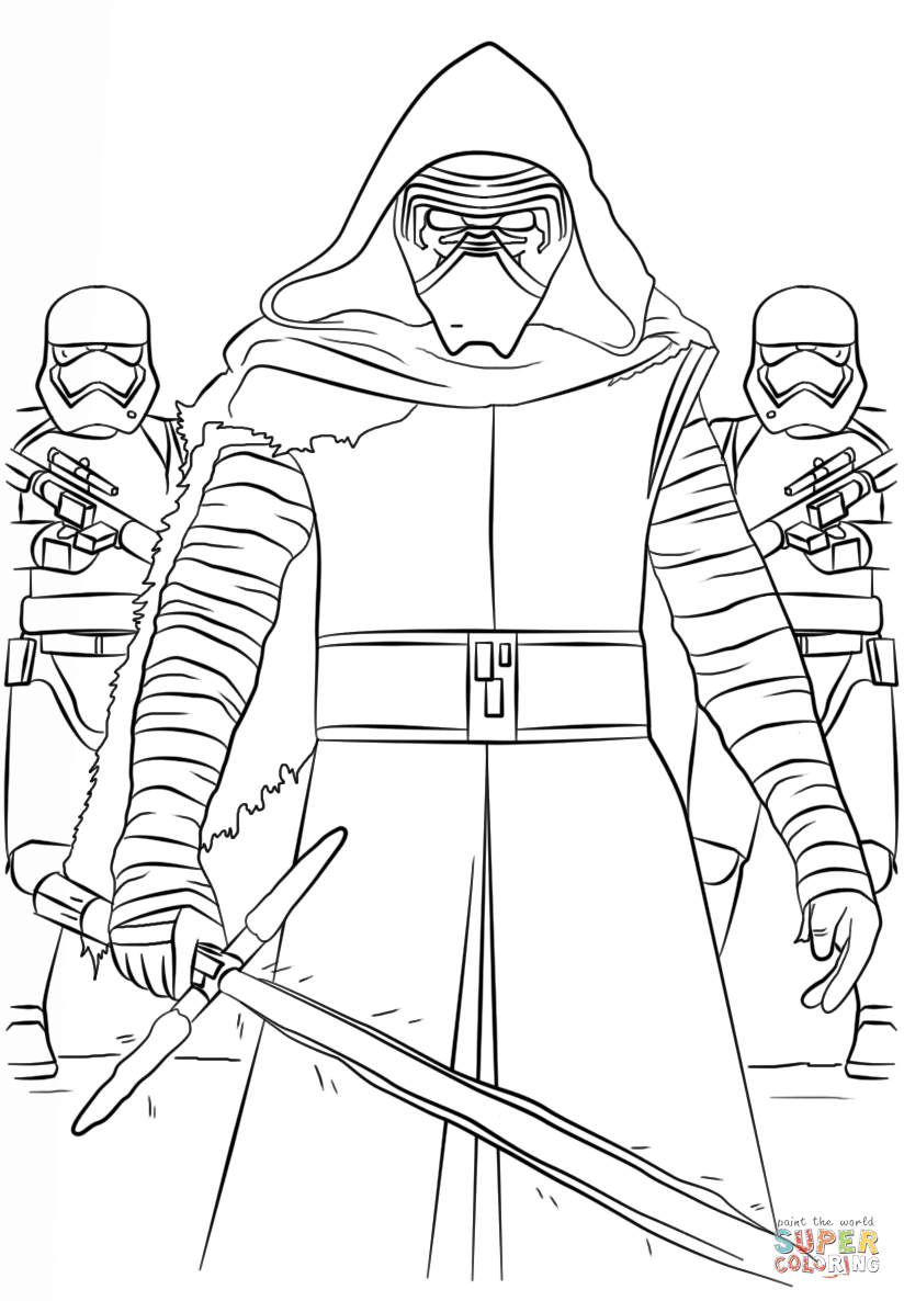 the Kylo Ren and the First Order Stormtroopers