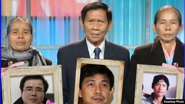 Ông Trần Văn Huỳnh và hai bà mẹ Việt Nam điều trần trước Quốc hội Hoa Kỳ (Ảnh:  Huynhngocchenh.blogspot)