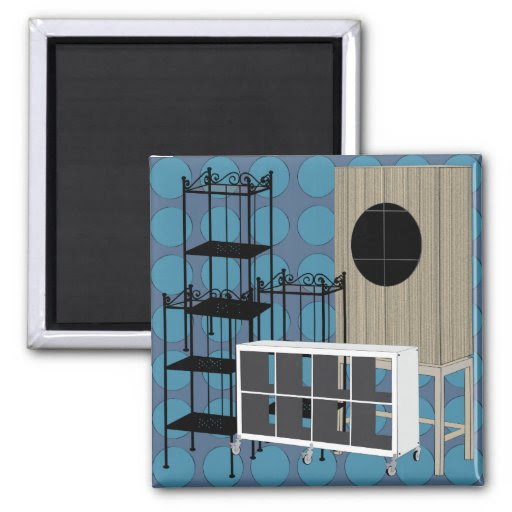 Ikea Furniture Shelves Blue Magnet from Zazzle.