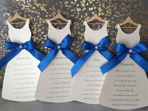 Bridesmaid Dress Card   Will you be my bridesmaid..? Royal