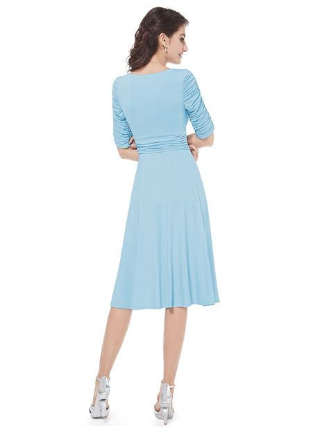 Short Cheap 3/4 Sleeves Casual Daily Summer Dress 03632 AU