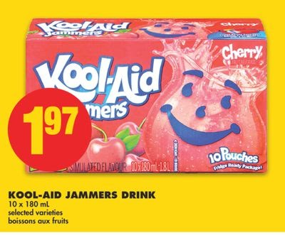 Koolaid Jammers Drink 10 X 180 mL on sale Salewhale.ca ...