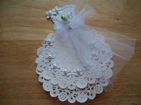 White Paper Doily Wedding Gown Embellishment Scrapbook