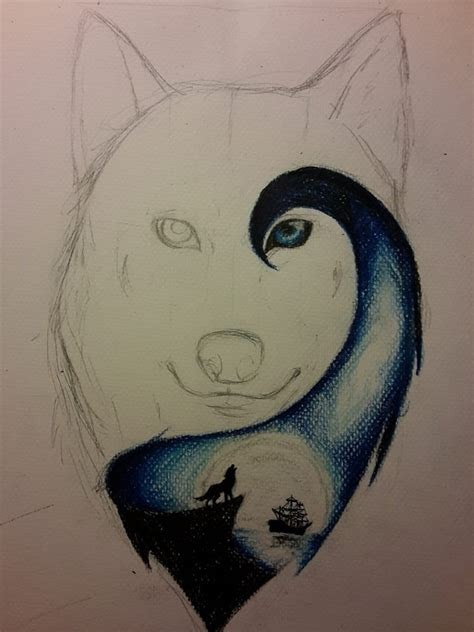 wolf drawings images  pinterest fox wolves