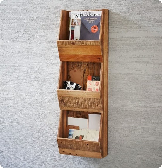 Reclaimed Pine Cubby Shelf from West Elm