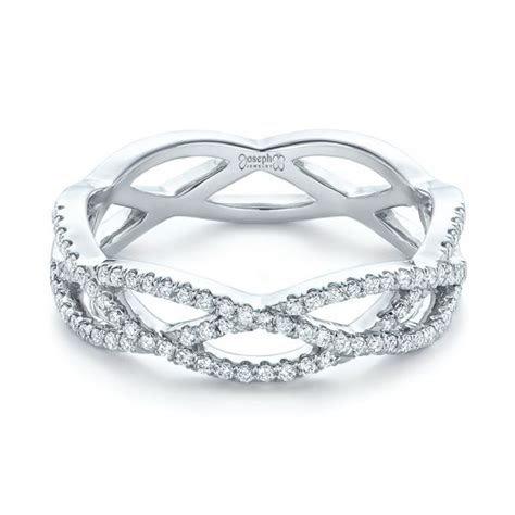 Custom Diamond Criss cross Wedding Band #102233   Seattle