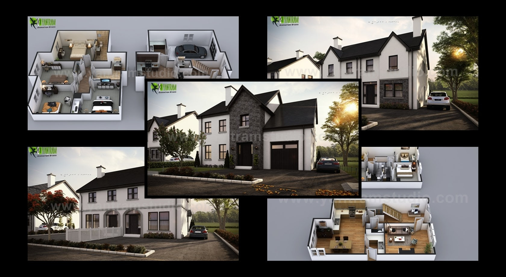 Modern Small House Design With Floor Plan Ideas In Milan Italy By Architectural Exterior Visualization Design Company Architizer