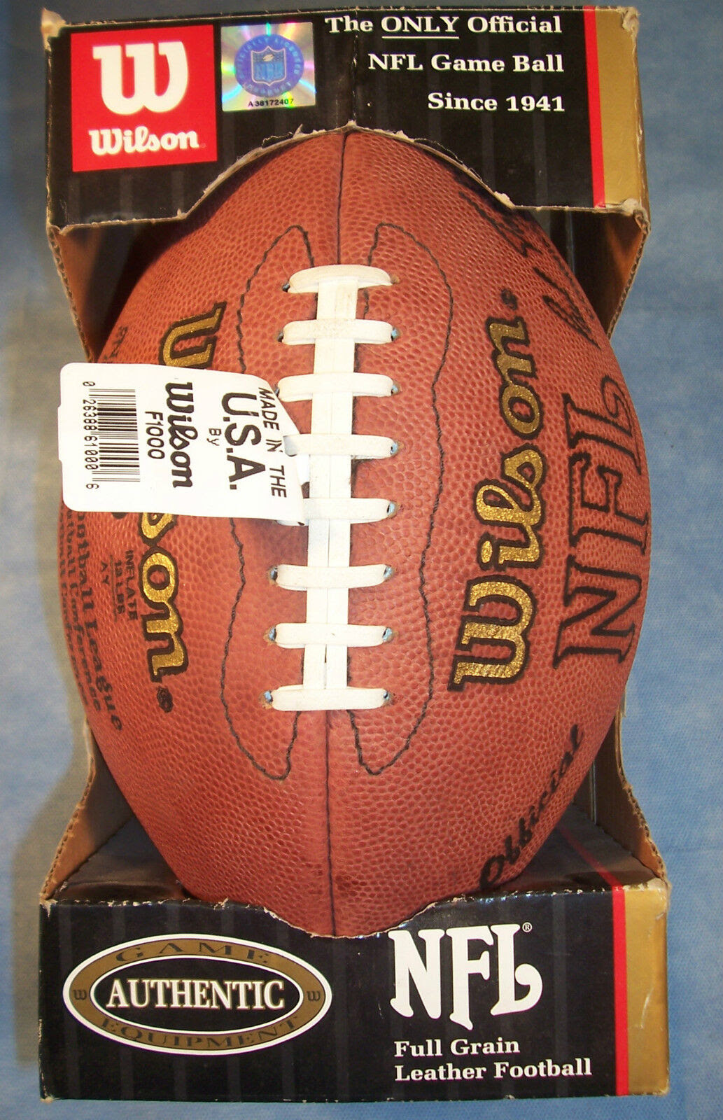 Wilson Official Authentic NFL Football Game Ball Paul Tagliabue Duke NFC AFC  eBay