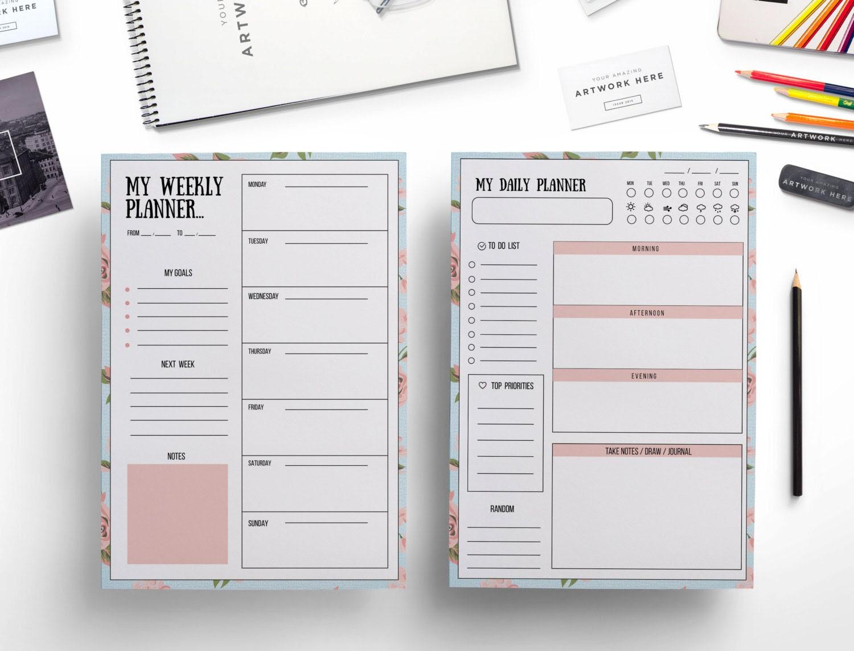 Calendar template | Etsy
