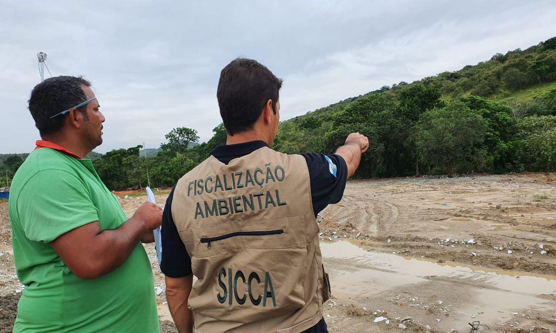 fiscalização ambiental no rio Guandú