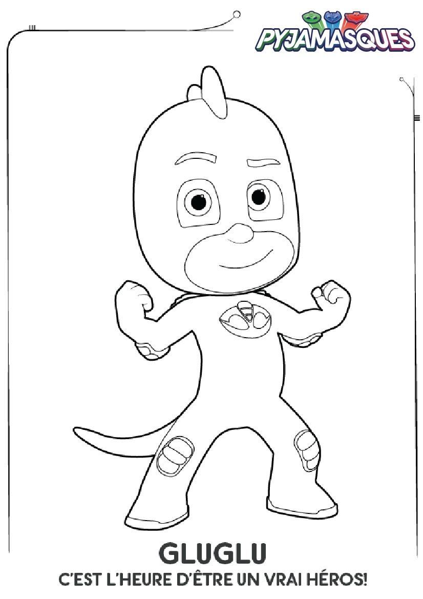Coloriage Les Pyjamasques Gluglu Imprimer