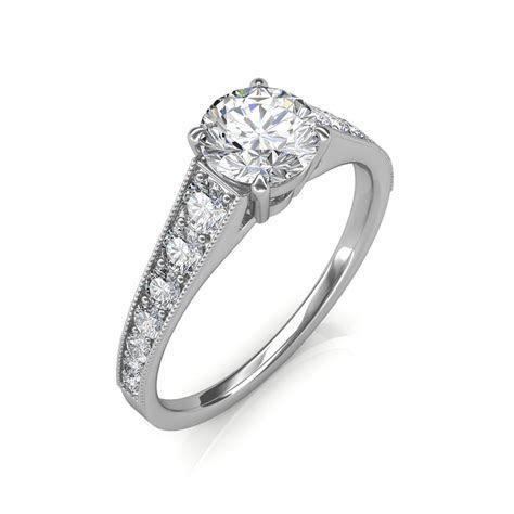 0.93 carat Platinum   Victoria Engagement Ring