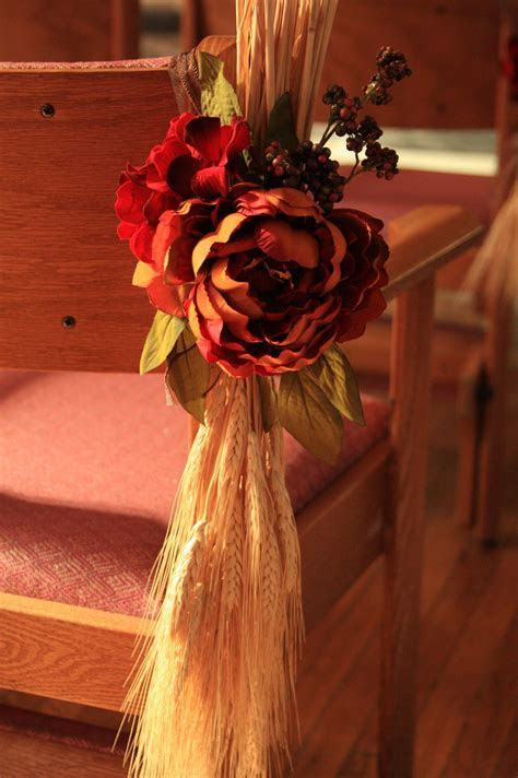 Creative Fall Wedding Pew Decoration   { Love Letters }
