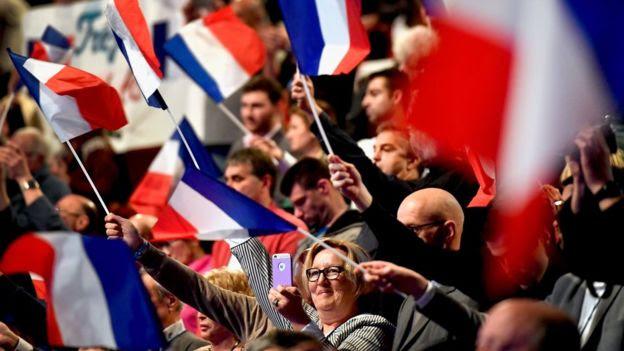 Comício da FN na França
