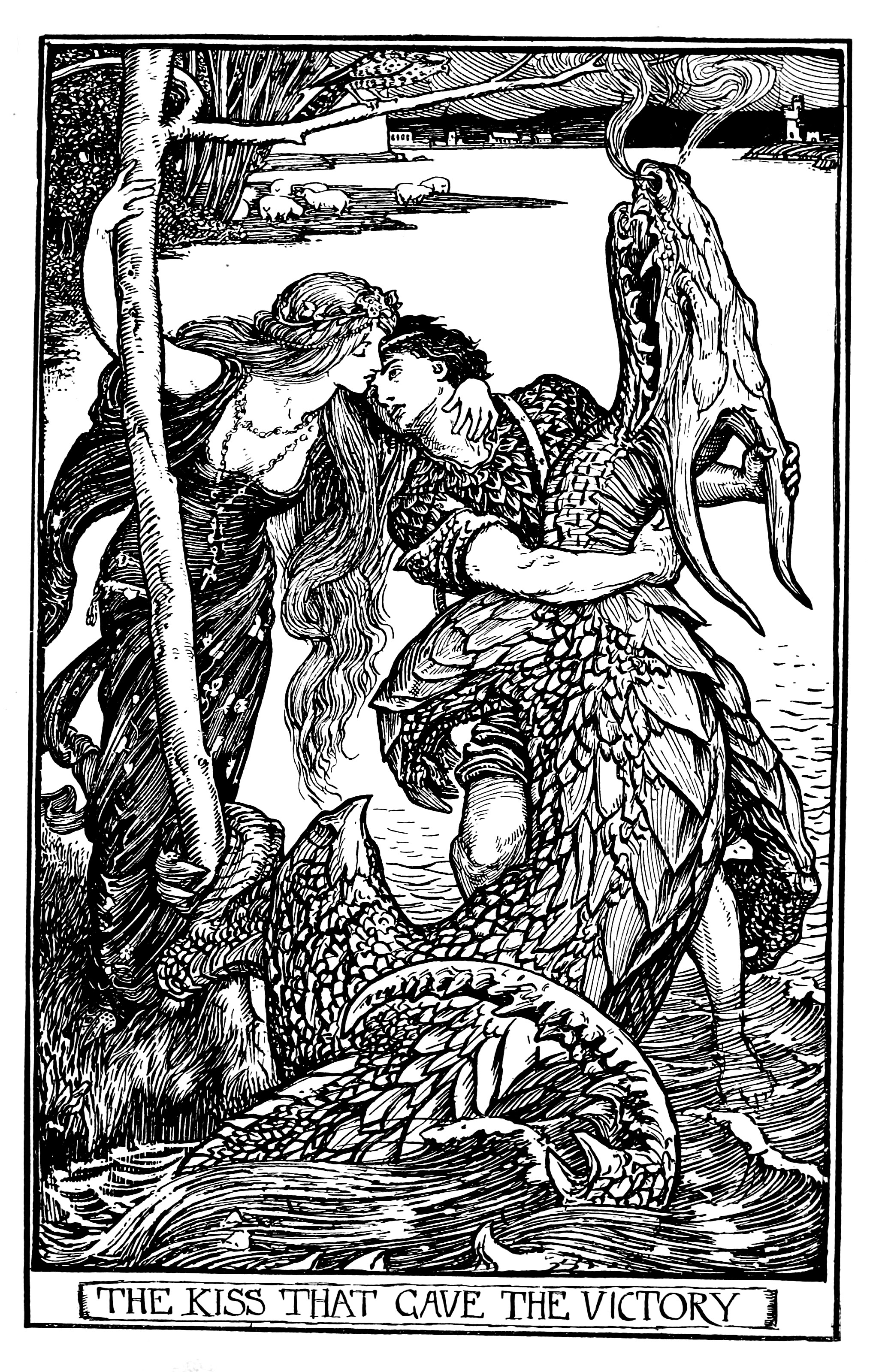 Henry Justice Ford - The crimson fairy book, edited by Andrew Lang, 1903 (illustration 5)