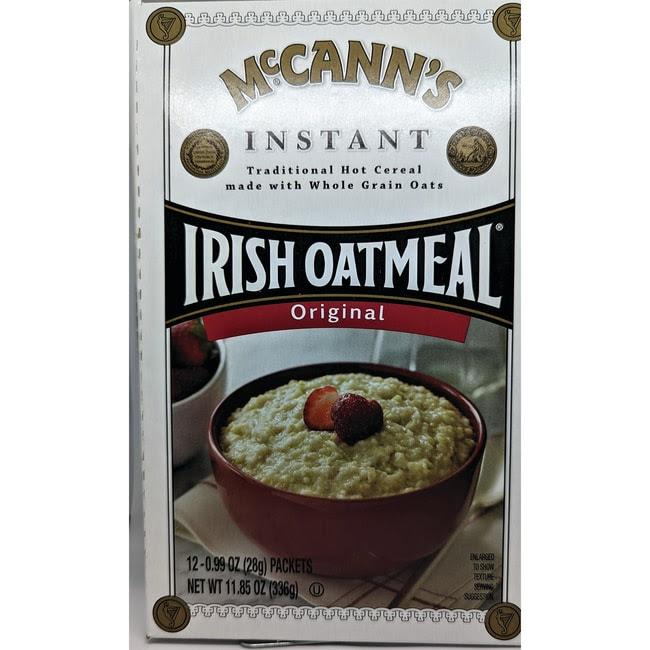 McCann's Irish Oatmeal Instant Oatmeal - Regular 12 Pkts ...