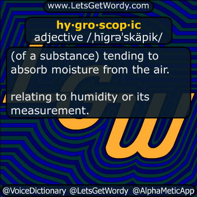 hygroscopic 01/03/2018 GFX Definition