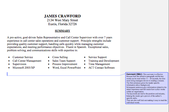 First Job Resume Summary Examples Best Resume Examples